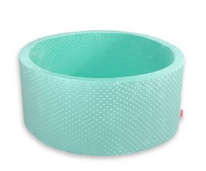 Ball-pit minky without balls - mint