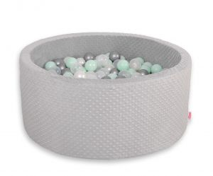 Ball-pit minky with balls 200pcs- gray