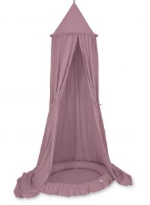 Set: Hanging canopy + Nest with flounce- pastel violet
