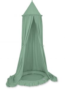 Set: Hanging canopy + Nest with flounce- pastel green