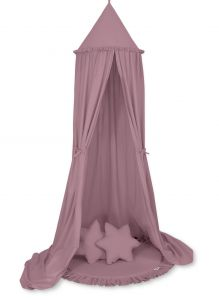 Set: Hanging canopy + Floor play mat + pillows - pastel violet