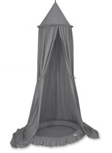 Set: Hanging canopy + Nest with flounce- anthracite