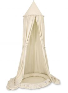 Set: Hanging canopy + Nest with flounce- beige