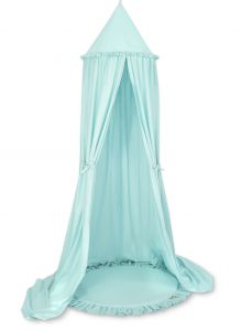 Set: Hanging canopy + Floor play mat- mint