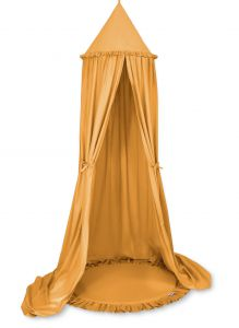 Set: Hanging canopy + Floor play mat- honey yellow