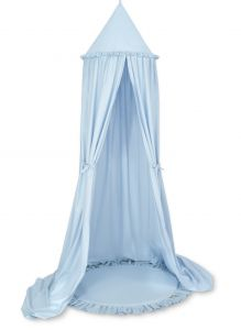 Set: Hanging canopy + Floor play mat- blue