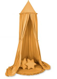 Set: Hanging canopy + Floor play mat + pillows - honey yellow
