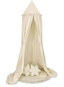 Set: Hanging canopy + Floor play mat + pillows - beige