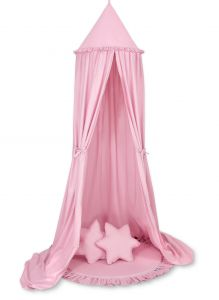 Set: Hanging canopy + Floor play mat + pillows - pink