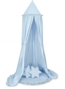 Set: Hanging canopy + Floor play mat + pillows - blue