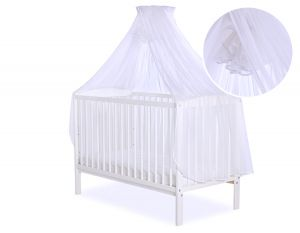 Mosquito-net made of chiffon-  white