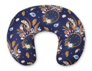 Extra cover for feeding pillow- dream catchers dark blue