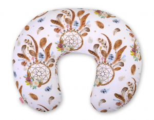 Extra cover for feeding pillow- dream catchers white