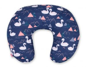 Extra cover for feeding pillow- Swans navy blue
