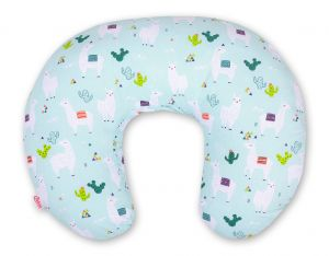 Extra cover for feeding pillow- lama mint