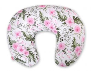 Extra cover for feeding pillow- peony flower pink