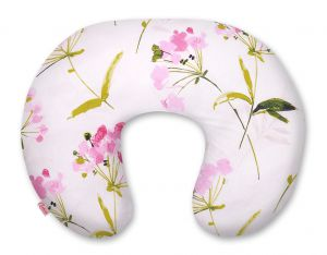 Extra cover for feeding pillow- flowers pink