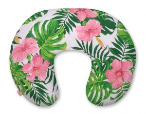 Feeding pillow -tropical flowers