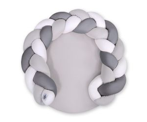 Baby donut pillow/ play mat 2 in 1 - white-gray-anthracite