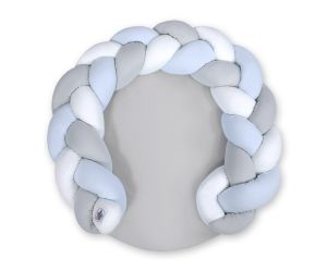 Baby donut pillow/ play mat 2 in 1 - white-blue-gray