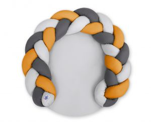 Baby donut pillow/ play mat 2 in 1 - gray-honey yellow-anthracite