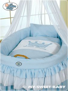 Bedding set 2-pcs for Moses Basket/Wicker crib no. 92001-305