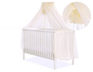 Mosquito-net made of chiffon - cream