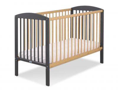 Baby cot 120x60cm Leonardo no. 5030-12- anthracite - natural wood