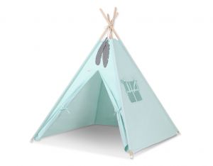 Teepee tent + decorative feathers- mint