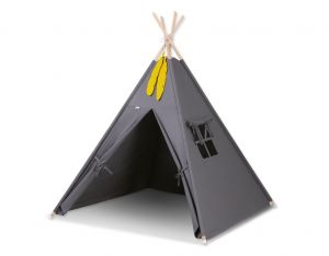 Teepee tent + decorative feathers- anthracite