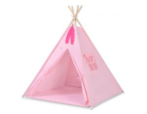 MINI Set: Teepees tent+play mat + decorative feathers- pink