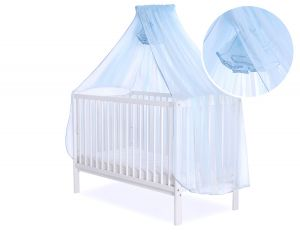 Mosquito-net made of chiffon - blue