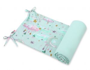 Universal bumper for cot - moons mint