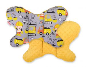 Double-sided anti shock cushion BUTTERFLY - yellow excavators/honey yellow