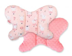 Double-sided anti shock cushion BUTTERFLY -  ballerinas pink/powder pink