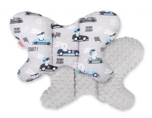 "Double-sided anti shock cushion ""BUTTERFLY"" - gray rabbits/gray"