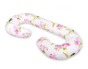 Maternity Support Pillow C - flowers pink