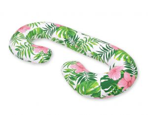 Maternity Support Pillow C - tropical flowers