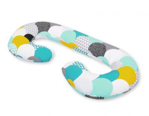 Maternity Support Pillow C - colored fish scales