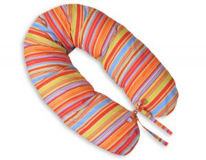 Pregnancy pillow- Longer- Orange strips