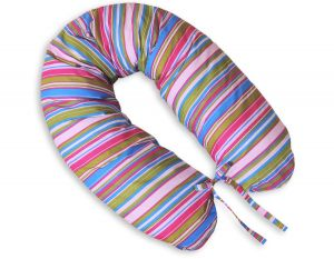Pregnancy pillow- Longer- Lilac strips
