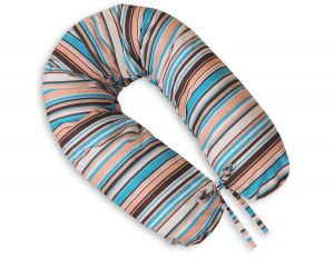 Pregnancy pillow- Longer- Brown strips