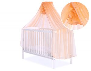 Mosquito-net made of chiffon - peach