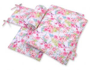 Bedding set 3-pcs  - hummingbirds in flowers