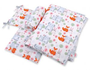 Bedding set 3-pcs - funny elephants