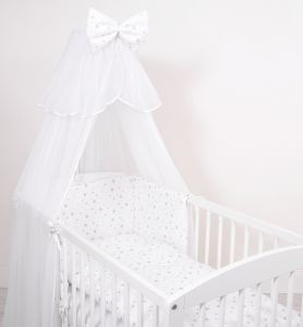 Mosquito-net made of chiffon- mini gray stars