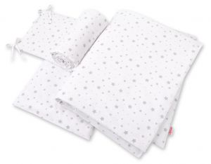 Bedding set 3-pcs - mini gray stars