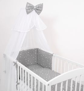Mosquito-net made of chiffon- mini stars white