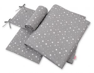 Bedding set 3-pcs - mini stars white