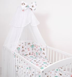 Mosquito-net made of chiffon- foxes beige